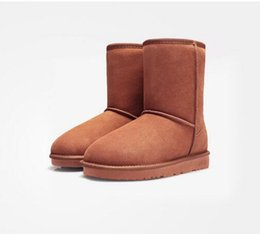 Wholesale Leather Heeled Thigh High Boots - 2016 Australia Classic Snow Boots Women's Snow Boots 585 snow boots [not ugglis] Hot sale 35-40 t1209