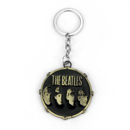 Wholesale Antique Bronze Alloy Key - Music Band The Beatles Star Keychain Metal Key Rings Chaveiro Key Chain