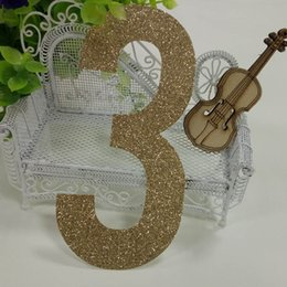 Wholesale Cake Decorations China - Hot sale 1000pcs gold glitter paper number 3 Decor Festive Birthday Party New Year,Christmas ,Cake