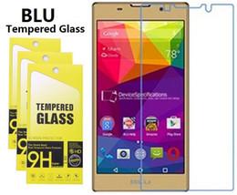 Lentes templados azul online-BLU Tempered Glass Para BLU Advance 5.0 5.5 HD Energy X2 Win Studio Energy D810 Pure XL XP Studio X8 HD Vivi 5 9H Dureza 2.5D 0.26mm Vidrio