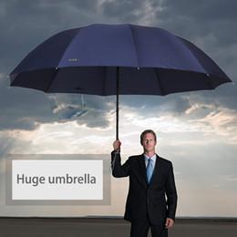 Wholesale Paraguas Rain - 2017 Brand 152cm Big top quality umbrella men rain windproof uv large paraguas male Women Sun 3 floding big outdoor parapluie Blue