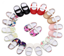 Wholesale Girls Soft Ballet Shoes - 10 Colors Baby Girl PU Leather Shoes Toddler Ballet Shoe first walker Soft Sole Baby Newborn Shoes