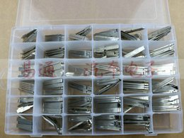 Wholesale Locksmith Wholesale Key Blanks - 175pcs lot 35 Type Full Original Engraved Line Key for 2 in 1 LiShi Scale shearing Teeth Blank Car Key Locksmith Tools Supplies