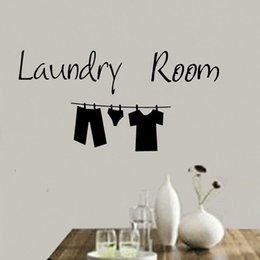 Wholesale Laundry Room Wall Decor - Laundry Room Funny Kitchen Wall Quote Sticker Lovely Clothes Words Vinyl Art Decal Hoem Decor