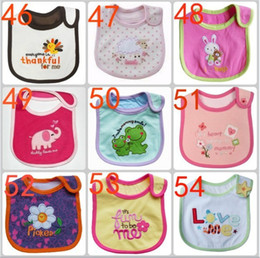 Wholesale Cute Towels For Girls - Cute newborn baby bibs Burp 100% cotton infant for little girls boys bibs with a picture of animals from cartoons Baby saliva Towels