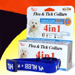 Wholesale Pc Basic - 10 pcs Adjustable Flea&Tick Collar Health For Dogs and Cats Anti Flea Ticks Mosquitoes Elimination Nylon Collar 4 Months Free Shipping