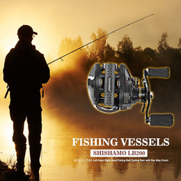 Wholesale Right Hand Baitcaster Reels - Shishamo LB200 Fishing Reel Left Right Hand Fishing Bait Casting Reel With One Way Clutch Durable Baitcaster Coil Fishing Reel