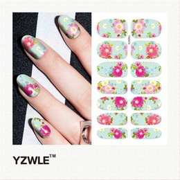 Wholesale Nail Salon Art Prints - Wholesale- YZWLE 1 Sheet DIY Decals Nails Art Water Transfer Printing Stickers Accessories For Manicure Salon (YSD074)