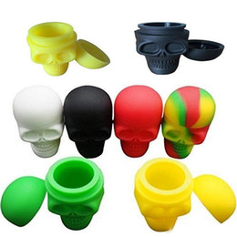 Wholesale Cheap Uv - Cheap Skull Shape 3ML 15ML Non-stick Silicone Container Food Grade Silicone Customized Small Silicone Jars Dab Wax Container Free Shipping