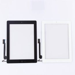 Wholesale Ipad4 Digitizer - AAA Best quality Tablet Touch Panel touch screen for ipad4 digitizer+home button+button flex +3M Glue Black and white color