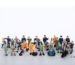 27 Pcs 1: 87 Modelo de Escala Figuras para HO escala modelo de cenário ferroviário, trabalhadores da estrada de ferro modelo de