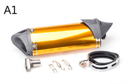 Wholesale Muffler Accessories - TKOSM 35.5cm Akrapovic Modified Exhaust Escape Moto Silencer 100cc 125cc 150cc GY6 Scooter Motorcycle CBR Dirt Pit Bike Accessories