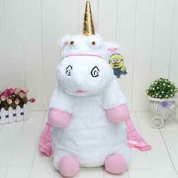Wholesale Despicable Plush Backpack - 50cm Despicable Me Unicorn Bag Plush Unicorns Toy Backpack Toys For Girls Kids Birthday Gift Cute Backpacks TB0009