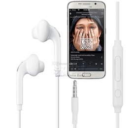 Wholesale Earphone Galaxy Note - Skylet For Galaxy S6 Earphones Headphone 3.5mm earphone In Ear Stereo Headset Headphones With Mic and Remote Volume Control For Note 4