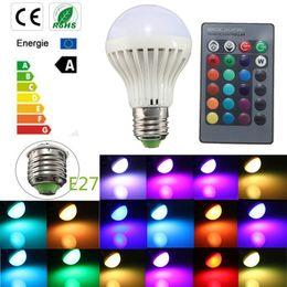 Wholesale E27 Led Corn Globe - Wireless Touch Remote Control RGB LED Bulbs Lamps E27 B22 3W LED Corn Bulbs Holiday Lights
