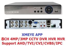 Wholesale Onvif Camera Recorder - Xmeye app 5IN1 8CH 4MP AHD DVR NVR XVR CCTV 1080P 3MP 5MP Hybrid Security DVR Recorder Camera Onvif RS485 Coxial Control P2P Cloud