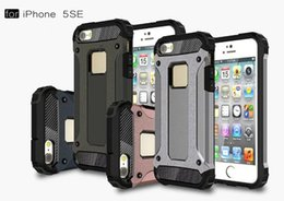 Wholesale Iphone5 Defenders - Dual Defender Hybrid Tough Armor Case For iPhone5 5S Coque TPU PC Back 2 in1 Protective Phone Cases Cover