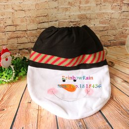 Wholesale Toilet Seat Chair - Wholesale-1pc Lovely Christmas Toilet Seat Cover Snowman Design Bathroom Chair Decoration Toilet Cover Ornaments Holiday Supplies Navidad