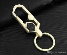Hohe Qualität Brand Design Kreative Persönlichkeit Geschäft in Leder Auto Schlüsselanhänger Metall Stick eine Haut Schlüsselanhänger Geburtstag Geschenk Schlüsselhalter von Fabrikanten