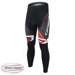 Wholesale Orbea Long Jersey Bib - Hot 2017 Team ORBEA Winter Cycling Jersey Long Pants Thermal Fleece Winter Cycling Clothing + Cycling Bib Pants Maillot Ciclismo D1144