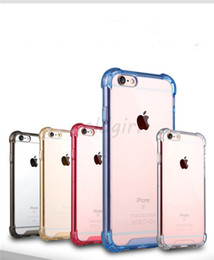 Wholesale Tpu Hard Plastic - Transparent Shockproof Acrylic Hybrid Armor Bumper Side Soft TPU Frame Back PC Hard Case Clear Air Cushion cover For iphone 5s 6 6s 7 8 Plus