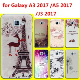 Wholesale Soft Silicone Tpu Gel Case - Cartoon Print Silicone TPU Gel Soft Painting Phone Back Case Cover for Samsung Galaxy A3 A5 J3 2017