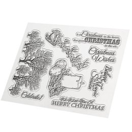 Wholesale Diy Paper Christmas Tree - Wholesale- DIY Merry Christmas Candle Tree Transparent Clear Rubber Stamp Seal Paper Craft Photo Album Diary Scrapbooking Card Making Decor