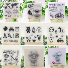 Wholesale Cartoon Photo Album - Wholesale- 2017 New Cartoon Transparent Clear Silicone Stamp Seal for DIY scrapbooking photo album Decorative clear stamp sheets 10*10cm