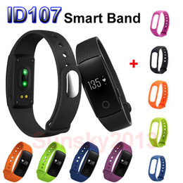 Wholesale Italian Watch Bands - Smartband ID107 Smart Band Bracelets Sports Wristband Bluetooth Watch Flex Fitness Health Tracker Pedometer Heart Rate Monitor IOS