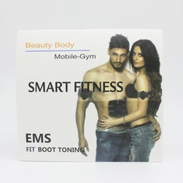 Wholesale Electric Slimming Massager Pulse - Smart EMS Electric Pulse Treatment Toner Abdominal Muscle Trainer Wireless Sports Muscle Stimulator Body Fitness Slimming Massager