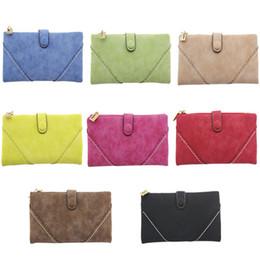 Belos sacos com zíper on-line-Moda Bonito Longo Titulares Carteiras Fosco PU Embreagem Sacos de Cartão Titular Longo Carteiras Para As Mulheres Presente