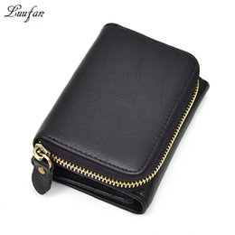 Wholesale Wholesale Nylon Zip Purses - Wholesale- Unisex genuine leather pocket wallet Thrifold zip around pocket short wallet zipper coin case Snap real leather short purse