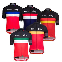Wholesale Top Team Cycling Jersey - VACOVE Summer Pro Team sky Cycling jerseys Breathable Short sleeves Cycling Clothing MTB bike jerseys Ropa Ciclismo cycling shirt G10WQ