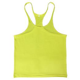 Wholesale Workout Clothes For Men - Wholesale- New Gymwear Mens Bodybuilding Clothes Male Tank Tops Fitness Suit Workout Clothes For Men 7 Colors Racerback Tank Tops For Men