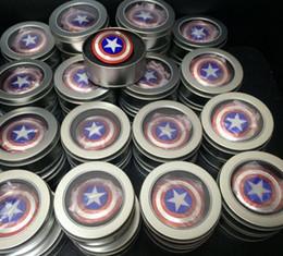 reductor de metal Rebajas El Anti-Anxiety 360 Spinner Fidget Toy Capitán América Shield ayuda a enfocar a los niños Adultos Reductor de estrés Hand Spinner Rodamiento de cerámica