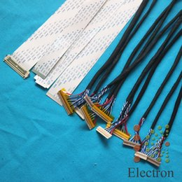Wholesale Universal Wiring Kit - Wholesale- 15pcs lot LCD screen wire Kit 26cm support Universal LVDS FFC TTL Ribbon Flat Cable for 12''-32'' LED LCD driver board connected