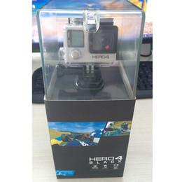 Acessórios gopro preto on-line-HERO4 Black Sports Camera com 16GB Secure Digital Memory Card e Acessórios para gopro hero4 preto Tripé Adapter Para GP Bundle WiFi