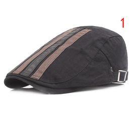 Wholesale Newsboy Caps For Men - Wholesale 5 pcs Adult Unisex Berets Cap Adjustable Stripe Cotton Duckbill Newsboy Hat for Men Woman S-199