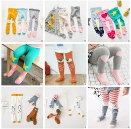Wholesale Owl Kids Clothes - Anti Slip Baby Leggings Tights Kids Tights Spring Leggings Baby Ins Clothes Fox Owl Rabbit Leggings Cute Long Korea Socks Girls Tights 744