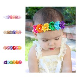 Wholesale korea kids hair accessories - Baby headbands Kids Infant colorful fabric flowers Hair Accessories Cute Korea hair band Photograph headdress Hair Sticks Hairbands KH501
