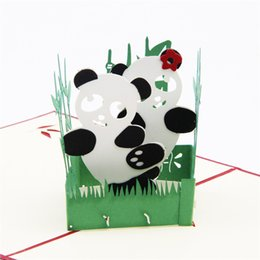 Wholesale custom carvings - 10pcs lot DIY 3D Cubic Greeting Cards Custom Postcard Handmade Paper Art Carving 3D Pop UP Card Birthday Gifts