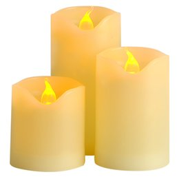 Wholesale Bright Candles - 3pcs lot Battery Operated LED Candle with Long Lasting Bright Light Flameless LED Candle Set with Hight Quality