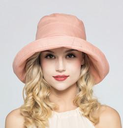 2019 angepasste hüte Großhandels- elegante Dame Sun Hat Sun-Hüte, die Mode-Entwurfs-UVsonnenschutz-Sommer-Hut-Rand kantieren, kann kausale Strand-Sun-Hüte eingestellt werden günstig angepasste hüte