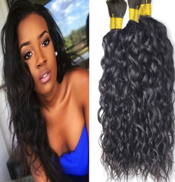 Wholesale Human Hair Bulk Unprocessed - naturalhairfactory Human natural Wave 3 Pcs lot Hair Bulk Malaysian Unprocessed Hair Natural Color Bulk Hair For Braiding