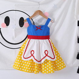 Wholesale American Alice - Girls Dresses Alice Princess Tutu Skirt Snow White Cosplay Halloween Summer Cotton Children Girl Kids Clothing