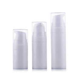Bottiglie di toner online-20pcs 10 ml 15 ml piccolo mini vuoto plastica pet profumo di toner riutilizzabile bottiglie airless contenitore del campione cosmetico per viaggi EB12
