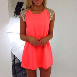 Wholesale Cheap Sequin Party Dress Xl - 2016 Hot New Sexy Women Summer Chiffon Evening Strapless Club Dress Party Mini Dresses For Dating Gifts Plus Size Cheap Z2