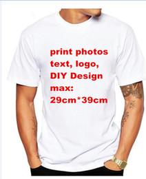 Wholesale Photo Print Sleeves - photo text logo Custom T Shirt Men Clothing moder Short SleevePrinted Custom T-shirt DIY Design Tee Shirt S-XXXL