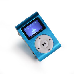 Wholesale Wholesaler Slot Machines - Wholesale- mini clip mp3 player with screen music machine TF card slot music player mp3 player with cable cord and earphone