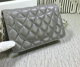 Wholesale Diamond Dress Mini - New Fashion Women Woc Bag Rich bag Lambskin Handbags Grey Shoulder Bag 33814